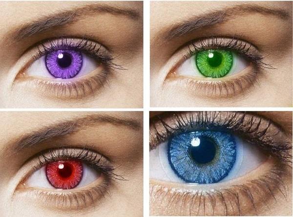 len đeo mắt
